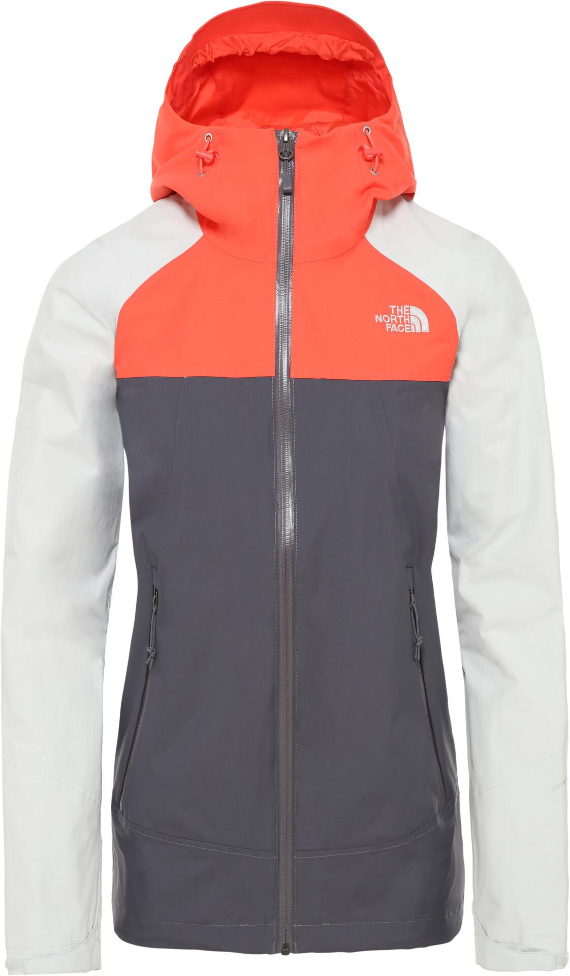 The North Face Stratos Jacke Damen vanadis greytin greyradiant orange